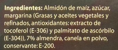 Polvorones de almendra sin gluten y sin lactosa - Ingredients
