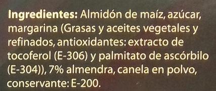 Polvorones de almendra sin gluten y sin lactosa - Ingrédients - es