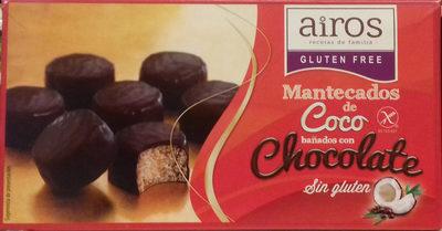 Mantecados de coco bañados con chocolate sin gluten - Producte - es