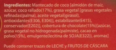 Mantecados de coco bañados con chocolate sin gluten - Ingredients - es