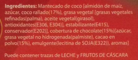 Mantecados de coco bañados con chocolate sin gluten - Ingrédients - es