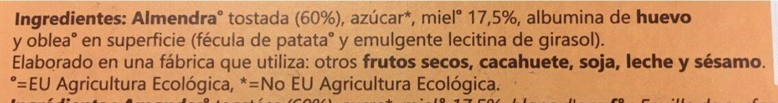 Turrón de Alicante ecologico - Ingrediënten - es
