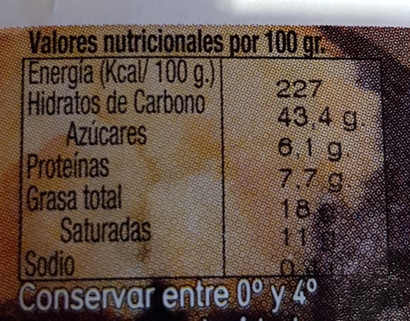 Croissant recto - Informations nutritionnelles - es