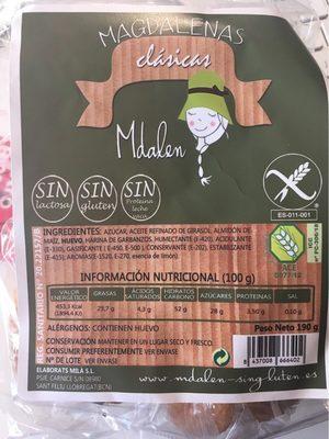 Magdalenas clasicas Sgluten Slactose - Product
