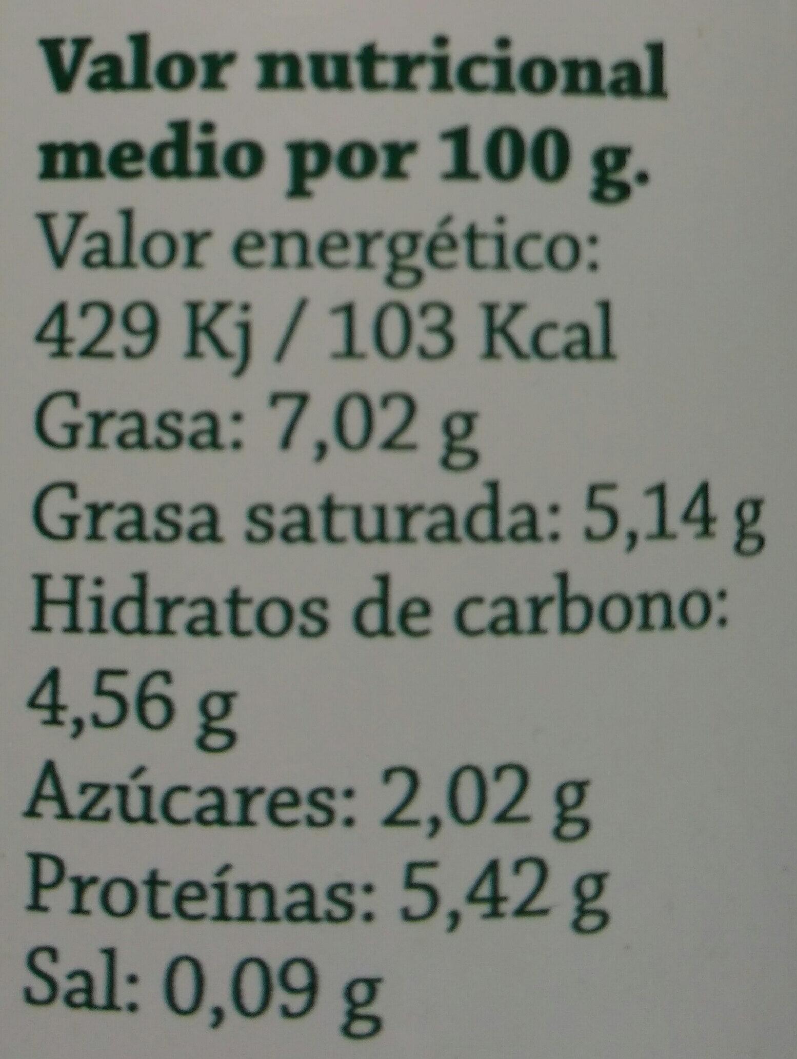 Leche de Oveja de rebaño propio - Nutrition facts - es
