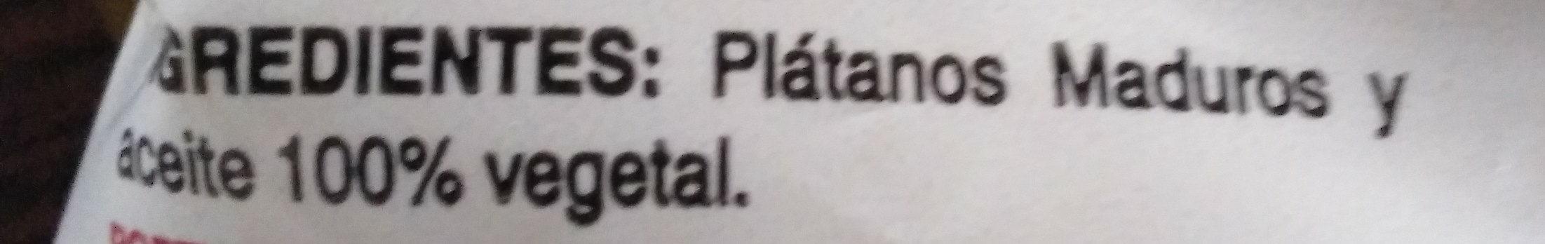 Platanitos - Ingredientes