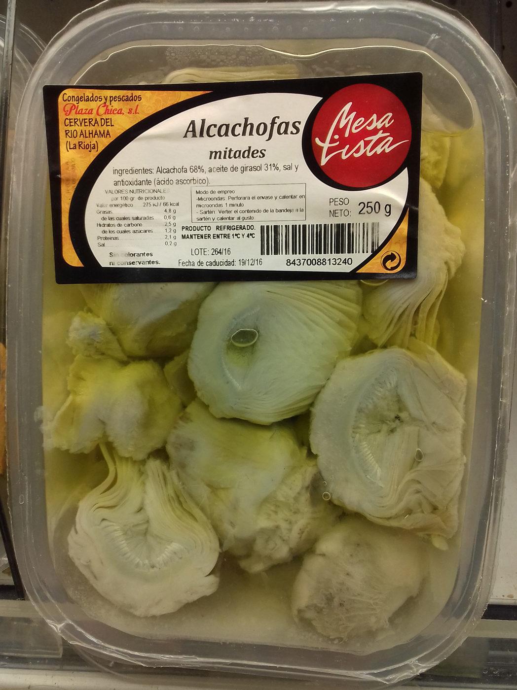 Alcachofas mitades - Produit - es
