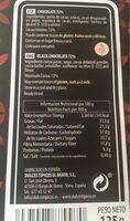 Chocolate negro 72% edición especial - Nutrition facts