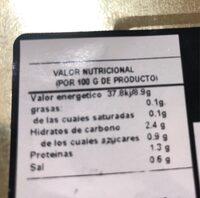 Esparragos Blancos - Información nutricional - es