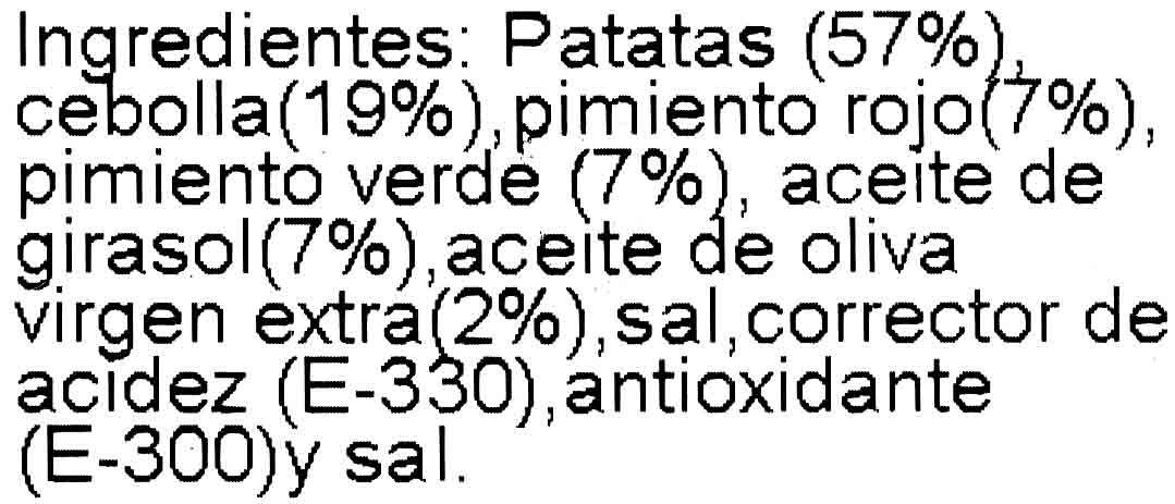 Patatas a lo pobre - Ingredients - es