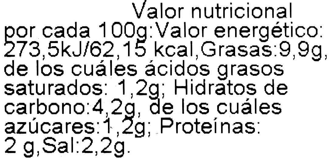 Patatas a lo pobre - Informació nutricional - es