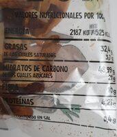Mix vegetales - Información nutricional