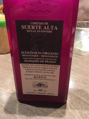 """Olivenöl """"Picual En Envero"""" Vom Cortijo De Suerte Alta - Producto - fr"""