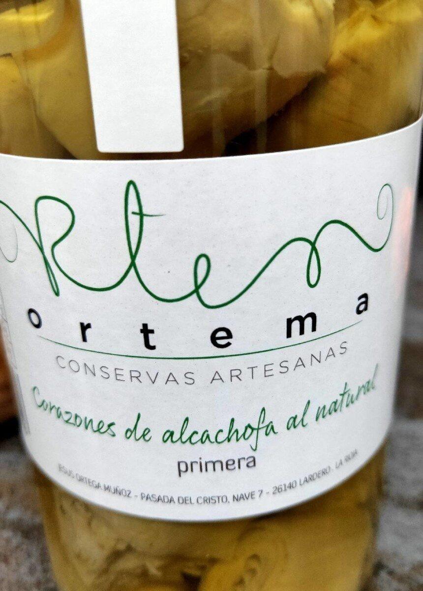Ortema corazones alcachofa al natural - Producto