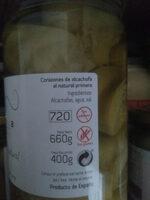 Ortema corazones alcachofa al natural - Ingredientes