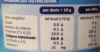 Colágeno natural - Informations nutritionnelles - es