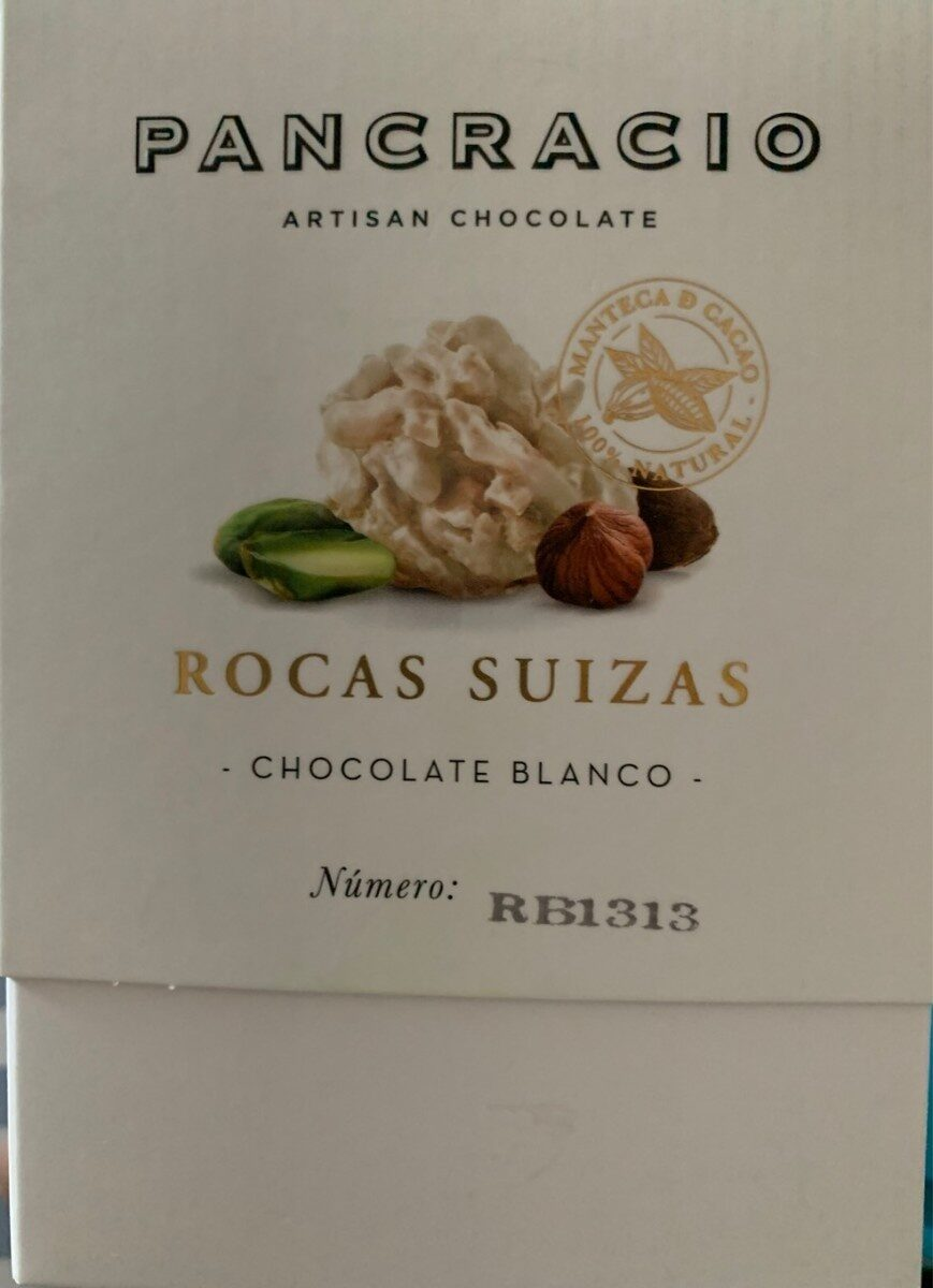 Rocas suizas chocolate blanco - Product