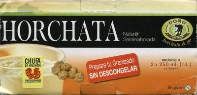Horchata natural semielaborada - Producto
