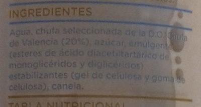 Horchata Fresca - Ingredientes