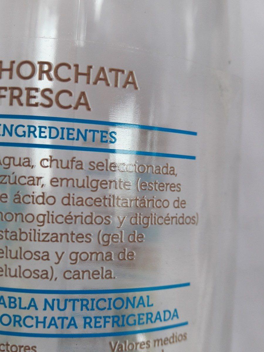 Horchata fresca - Ingredients