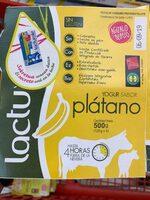 Lactuyogur yogur sabor plátano sin gluten - Product