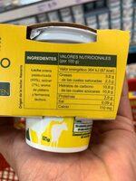 Lactuyogur yogur sabor plátano sin gluten - Voedigswaarden
