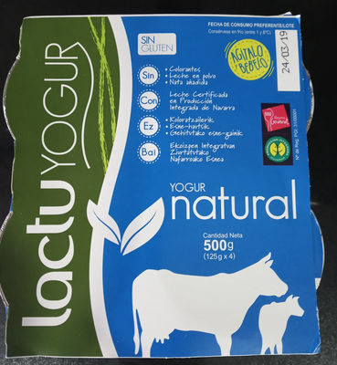 Yogur natural Lactuyogur - Product - es