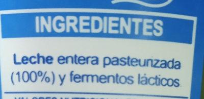 Yogur natural Lactuyogur - Ingrediënten - es