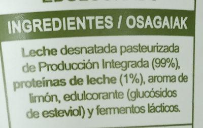 Yogur sabor limón - Ingredients
