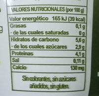 Yogur sabor limón - Informació nutricional