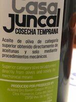 Aceite de oliva virgen extra picual - Ingredientes