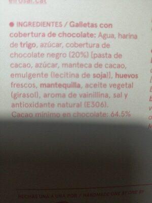 Arrugats xocolata - Ingredients - es