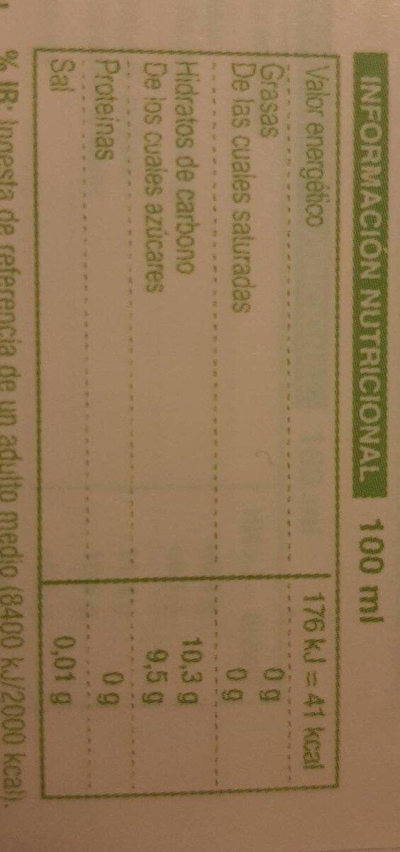 Ekolo Bio pour jus - Informations nutritionnelles