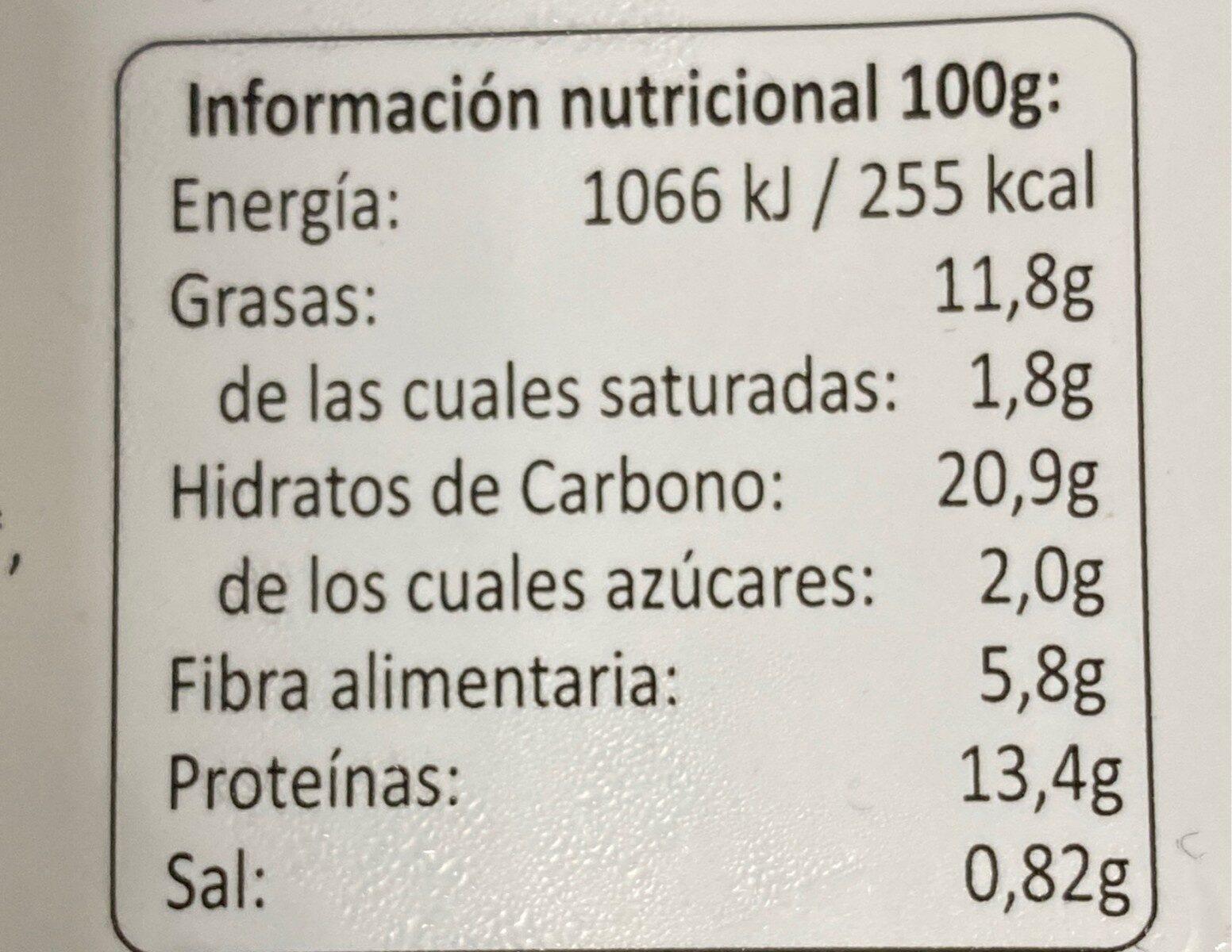 Vegenuggets - Informations nutritionnelles - es