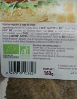 Happy Burger Seitan Fromage - Ingredients - fr
