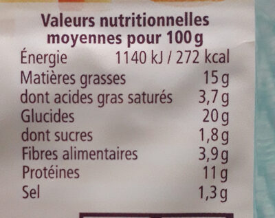 Happy Burger Seitan Fromage - Nutrition facts - fr
