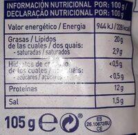 Colas de langostino al ajillo - Información nutricional