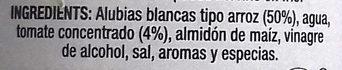 Alubias cocidas en salsa de tomate - Ingredientes