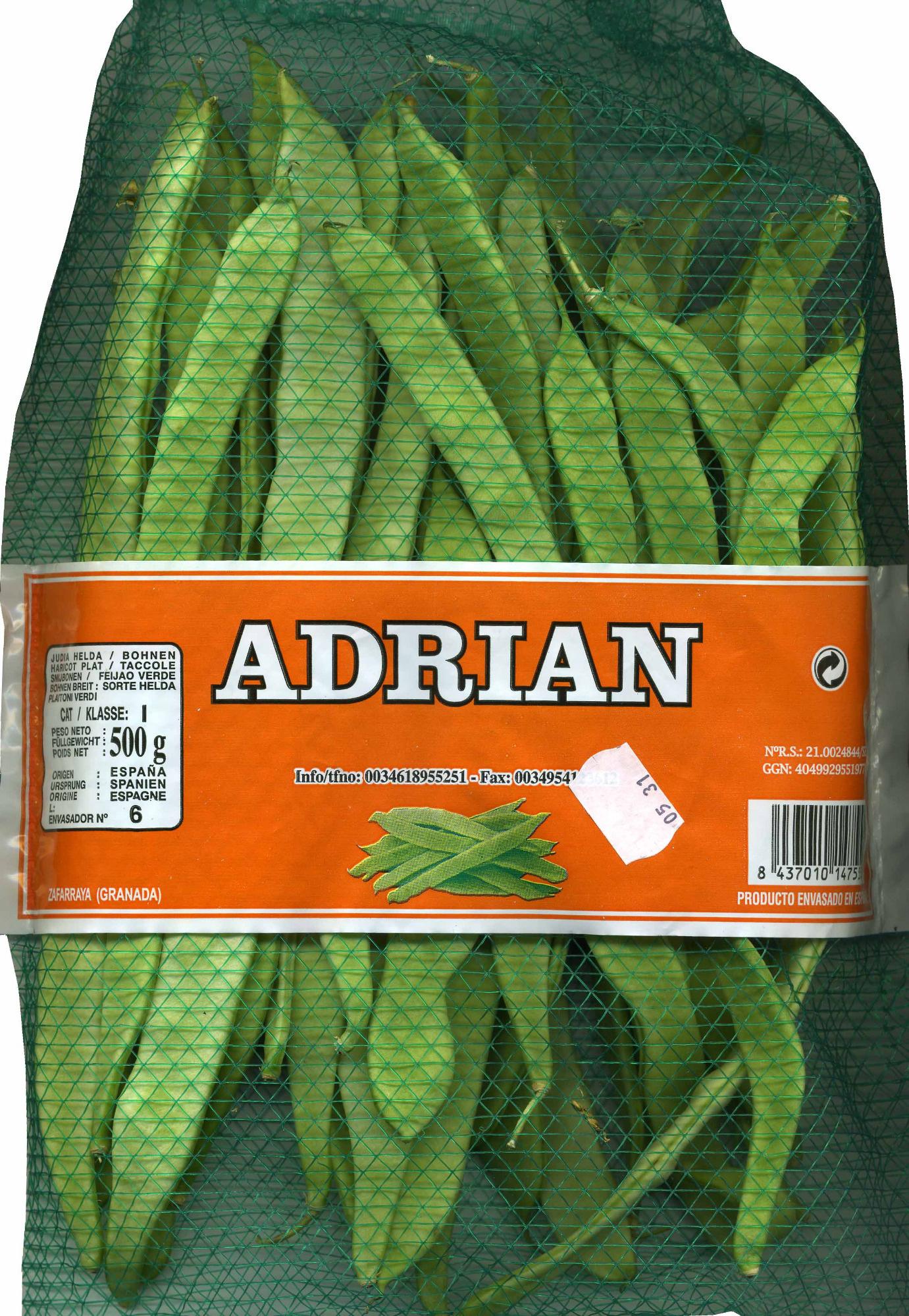 Judías verdes planas - Producte