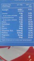 Heura Bocados Mediterraneos - Informations nutritionnelles - es