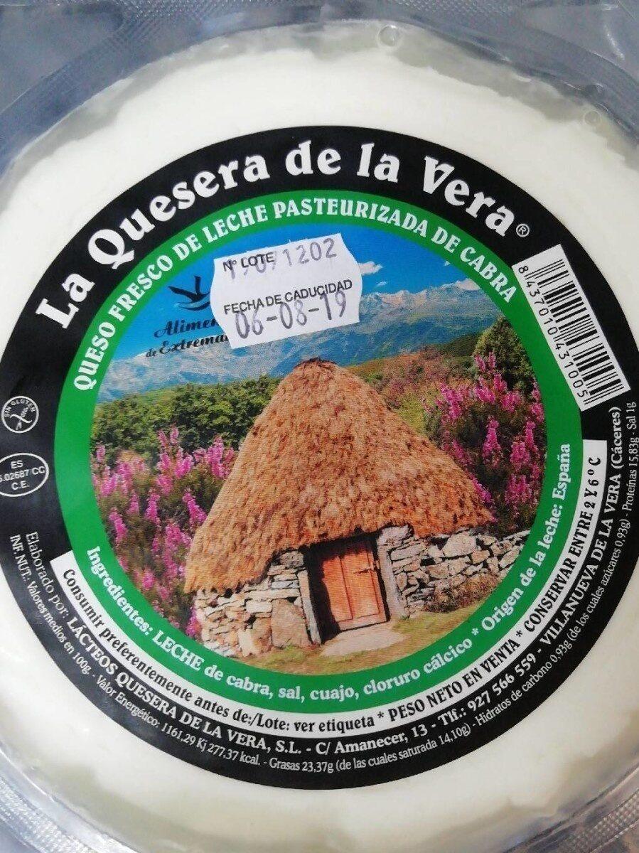 Queso fresco de leche pasteurizada de cabra - Produit - es