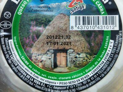 La quesera de la Vera - Informations nutritionnelles - es