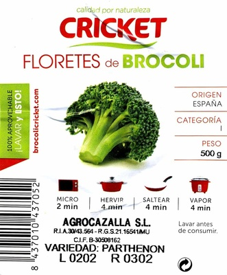 Floretes de brócoli - Ingredients