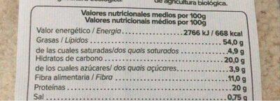 Harina almendras - Nutrition facts - es