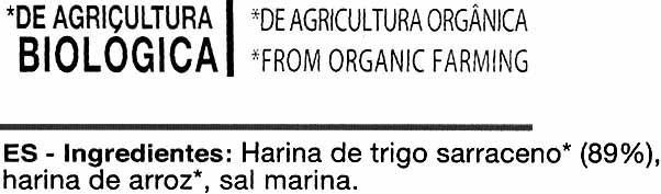 Grissoni de trigo sarraceno - Ingredients - es