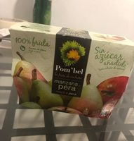 Compota de manzana y pera 100% fruta pack 4 tarrina 100 g - Produit - fr