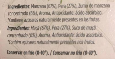 Compota de manzana y pera 100% fruta pack 4 tarrina 100 g - Ingrédients - fr