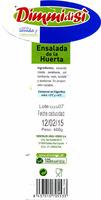 Ensalada de la huerta - Nutrition facts - es