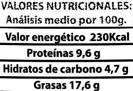 "Paté vegetal ecológico ""Línea Vercher"" Chorizo - Voedigswaarden"