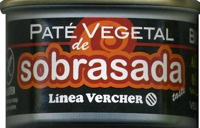 """Paté vegetal ecológico """"Línea Vercher"""" Sobrasada - Producto"""